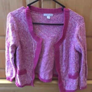 New York & Company Cardigan Pink White Size Small